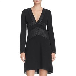 Tory Burch | Varenne Silk Contrast Stitch Dress
